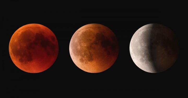 Lunar Eclipse Three Moons