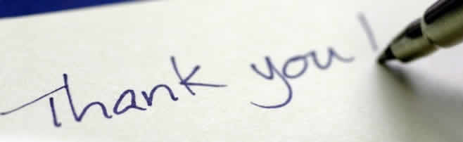 handwritten thank you - Testimonials: How to Write a Great One!