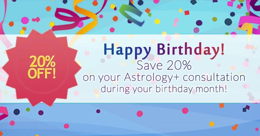 Astroshaman Birthday Discount Banner