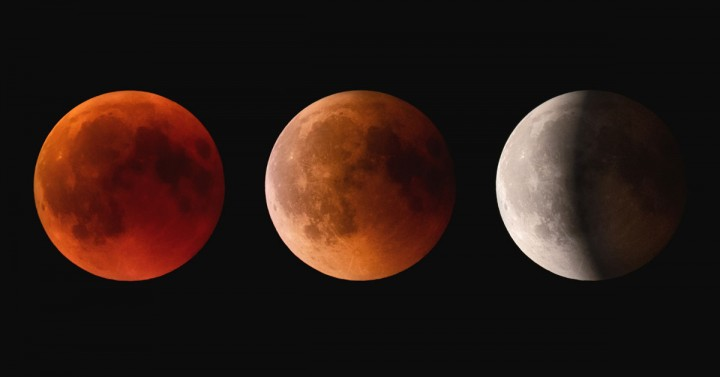 Lunar Eclipse Three Moons