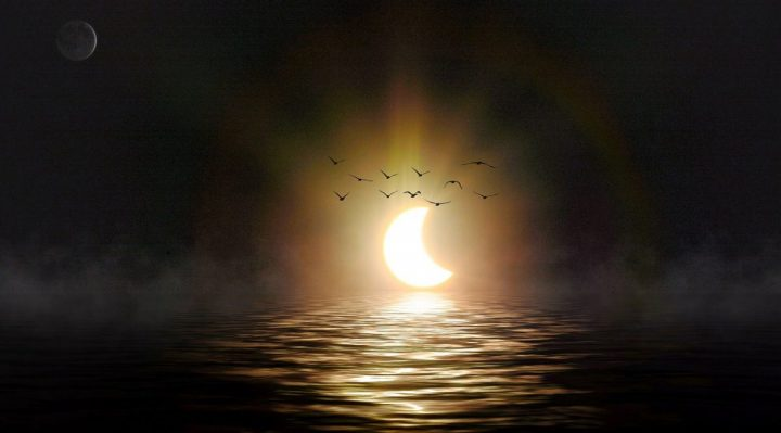 Solar Eclipse Over Water