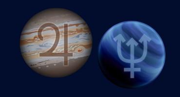 Jupiter Neptune