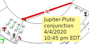 2020 04 04 Jupiter Pluto Conjunction 1 Of 3